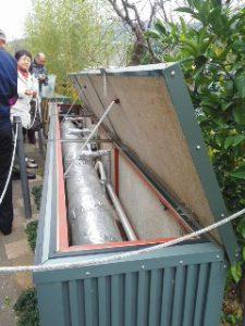 地下5mの地中熱利用換気システム